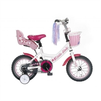 Little Miss 12P Popal meisjesfiets Wit 12 inch