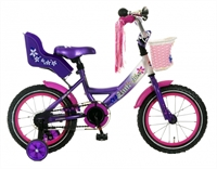 Little Miss Paars Popal 14 inch