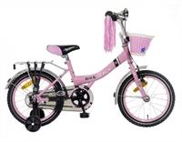 Bike 2 Fly Roze meisjesfiets Popal 16 inch