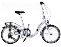 Vouwfiets Popal Subway F201 Wit 20 Inch