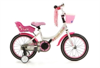 Meisjesfiets Popal Little Miss 16P Wit 16 Inch