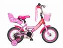 Roze meisjesfiets 12 inch Popal Little Miss 12P