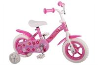 Yipeeh Flowerie Roze 10 inch meisjesfiets Roze